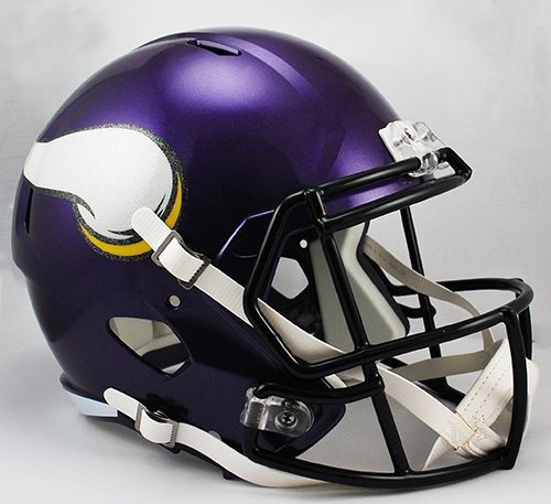 Riddell Minnesota Vikings Revolution (NEW MINNESOTA VIKINGS RIDDELL FULL SIZE DELUXE SPEED REPLICA FOOTBALL HELMET)