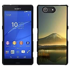 EJOY---Cubierta de la caja de protección la piel dura para el / Sony Xperia Z3 Compact / --Mountain Lake