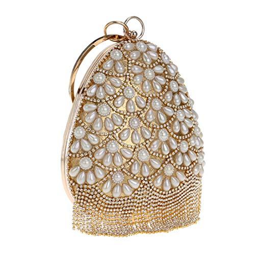 Party Handbag Clutch Red KERVINFENDRIYUN bag Wedding Pearl Silver bag evening Purse Women Color RqxA0
