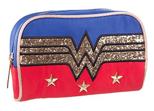 Retro Wonder Woman Logo Wash Bag With Glitter (Logo Wash Bag)