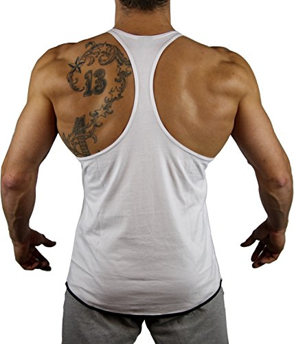 14 T nbsp;couleurs Muscle Muscular Stringer shirt Version2 Musculaire Dans Cut schwarz nbsp;most Bodybuilding 99 Weiß Kontrast nbsp;gym Fitness 99gym Hyc4vOWv