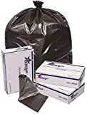 RENOWN GIDDS-2478862 Renown Trash Can Liners, Black, 43 x 47, 1.7ml, 10 Liners Per Roll, 10 Rolls Per Case