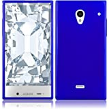 aquos sharp waterproof phone case - Sharp Aquos Crystal 306SH Case, Slim Fit Soft Rubber Candy Skin (TPU) Gel Jelly Cover by MEGATRONIC - Blue [With FREE Stylus Pen + Anti Scratch Clear LCD Screen Protector + Microfiber Cleaning Cloth]