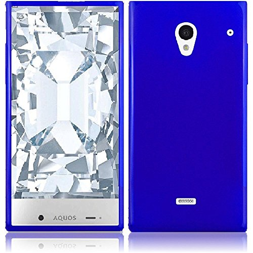Sharp Aquos Crystal 306SH Case, Slim Fit Soft Rubber Candy Skin (TPU) Gel Jelly Cover by MEGATRONIC - Blue [With FREE Stylus Pen + Anti Scratch Clear LCD Screen Protector + Microfiber Cleaning Cloth]