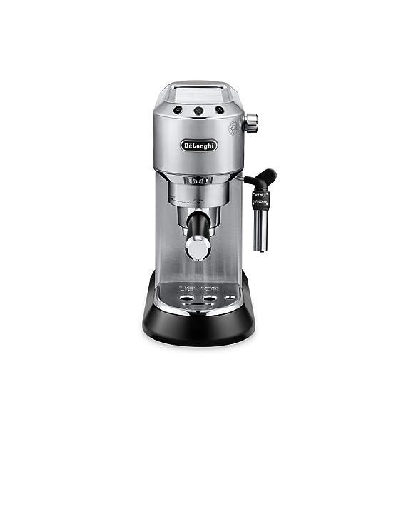 De'Longhi Dedica EC 685.M Espresso Siebträgermaschine | 15 bar | Professionelle Milchschaum Düse| Füllmenge 1 l | Vollmetallg