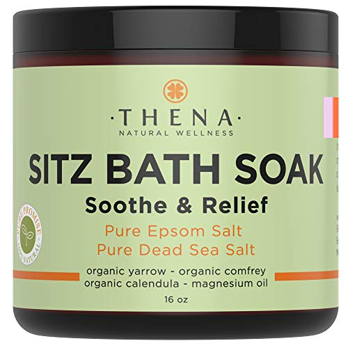 Best Organic Sitz Bath Soak For Natural Postpartum Care Recovery & Hemorrhoid, Soothe Relieve Pain Reduce Discomfort, 100% Pure Epsom & Dead Sea Salts Witch Hazel Lavender Essential - Wellness Soothe Oil