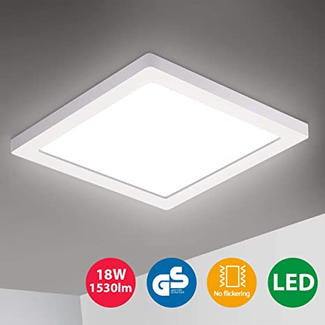 Oeegoo 18W LED Luz de techo 1.3cm ultra Plafon Lampara Led ...