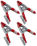 ToolUSA 4 Inches Metal Spring Clamp With Powerful Magnet: TZ03-15940-Z04 : ( Pack of 4 Pcs. )