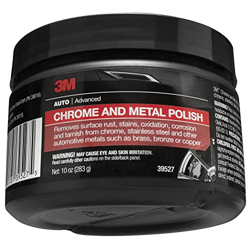 3M 39527 Chrome and Metal Polish - 10 oz. (Best Chrome Polish For Rims)