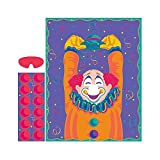 Amscan 27462 Craft Supplies Party Game-Pin The Nose on The Clown