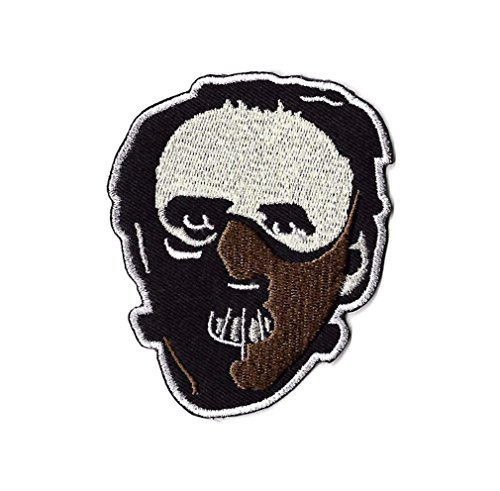 Dr Hannibal Lecter Mask Patch Embroidered Badge Silence of the Lambs Red Dragon Horror Movie Costume Souvenir Applique