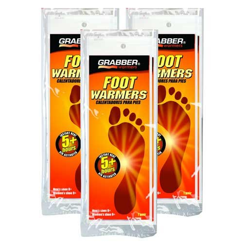 Grabber Foot Warmers 3 Pair Pack Small Medium