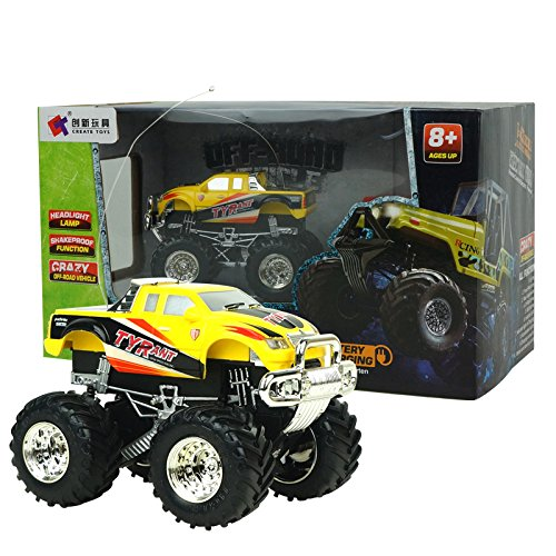 Toy Dune Buggies - luloo 1:43 AWD RC Cars Off-Road Vchicle, ATVs Dune Buggies High Speed Remote Control Racing Cars (Yellow)