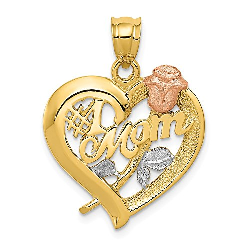 14k Yellow Gold Two Tone Mom Pendant Charm Necklace Special Person Fine Jewelry Gifts For Women For Her 14k Gold Filled Pocket Watch