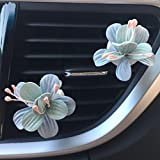 Naladoo Car Accessory,Car Multiflora Flower Air Outlet Fragrant Perfume Clip Air Freshener Diffuser (A)