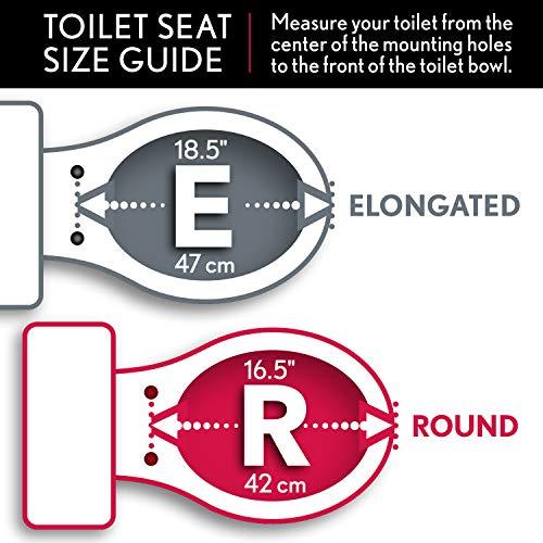Bemis 1800EC 346 Plastic Elongated Toilet Seat with Easy Clean & Change Hinges Biscuit/Linen by Bemis (Image #4)
