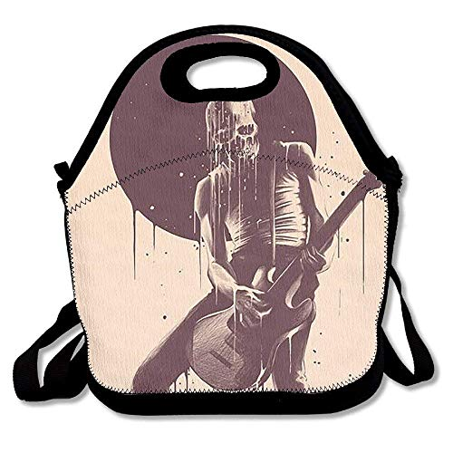 Rocker Lunch - Lunch Tote Skull Rocker Lunch Boxes Lunch Bags Handbag Food Storage Fits for School Travel Work Outdoor