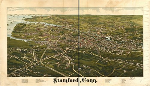 Map: 1883 Stamford, Conn|Connecticut|Stamford|Stamford - Connecticut Shopping Stamford