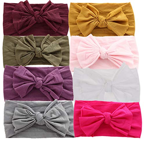 (Baby Headbands Turban Knotted, Girl's Hairbands for Newborn,Toddler and)