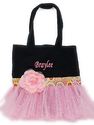 Dance Embroidered Tote (Personalized Dance Tote Bag Embroidered With Name)