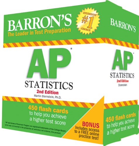 Barron's AP Statistics Flash Cards, 2nd Edition