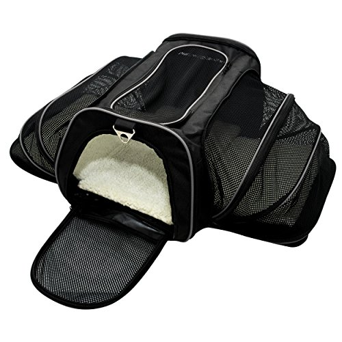 Franklin Pet Supply – Pet Carrier – Airline Approved – Expandable – Pet Kennel – Travel