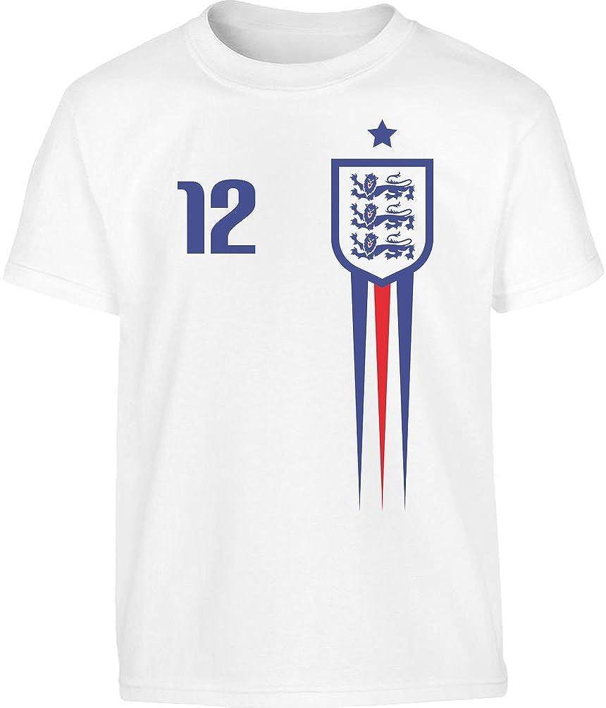 England Fu/ßball EM Fantrikot Fan-Shirt Kleinkind Kinder Jungen T-Shirt