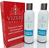 Sulfate Free Argan Oil Shampoo and Conditioner: Sodium-Chloride-Free, Alcohol-Free, Paraben-Free, Natural Sun Protection and Highest Salon Quality Pure Ingredients with 12 Plant Extracts