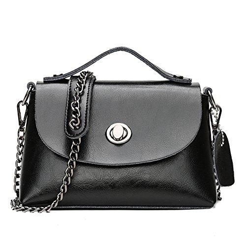 Nueva Moda Cera Black Aceite Retro Bolso GWQGZ Brown De De Bolsos xPqFdwd4