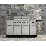 Kenmore 6 Burner Stainless Steel Gas Grill with Front Storage