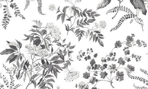 Waverly 5513193 Garden Taupe and Green Floral Wallpaper