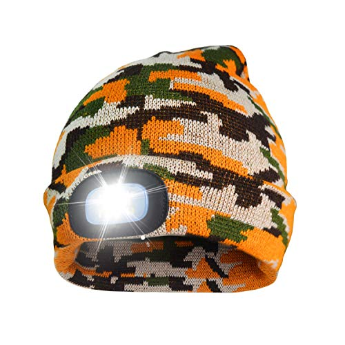 2473f7d16e364 A.S Unisex Rechargeable 4 LED Knitted Beanie Hat for Camping