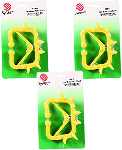 (3 Pack) Plastic Cattle Weaner,  Yellow Large