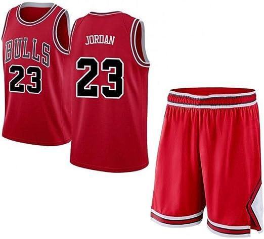 CHXY NBA Camiseta De Baloncesto Michael Jordan Nº 23 para Hombres: NBA Bulls, Fans Sports Transpirable Swingman Jersey Sin Mangas Camisetas Y Shorts,Red-XL: Amazon.es: Hogar