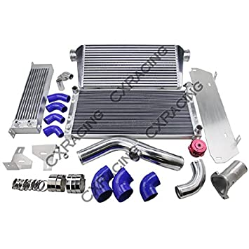 13B Rotary Engine Intercooler Radiator Piping Kit Oil Cooler For