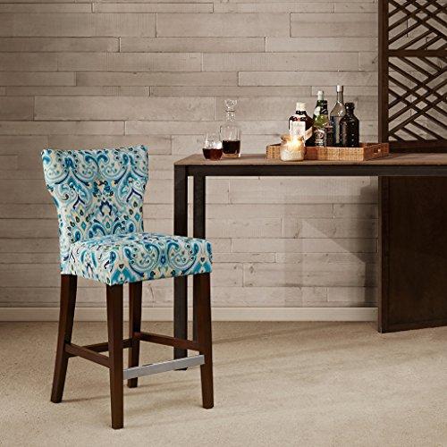Madison Avila Kohls Counterstool With Tufted Back Blue