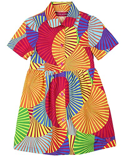 (Agatha Ruiz De La Prada Girl's Africa Print Dress, Sizes 4-12 (10))