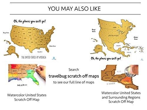 Watercolor World Scratch Off Map Perfect Gift For Any Travel Enthusiast Us States