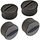 HQRP 4-pack Circular Filter Set for Bissell CleanView & PowerForce Helix Series Vacuum Cleaners, 203-7913 203-2587 Style 9 / 10 Replacement + HQRP Coaster