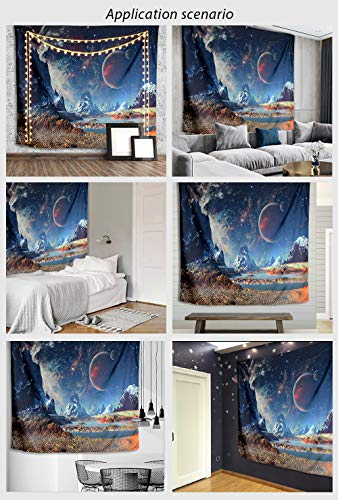 Tapestry Wall Hanging, GetALift Galaxy Wall Tapestries Outer Space Tapestry Wall Mural Home Décor for Bedroom Living Room Decorations 82.7x59.1 Inches…