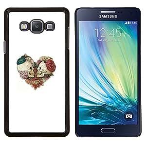 """For Samsung Galaxy A7 ( A7000 ) Case , Corazón Cráneo floral Rosa Blanca Muerte"""" - Diseño Patrón Teléfono Caso Cubierta Case Bumper Duro Protección Case Cover Funda"""