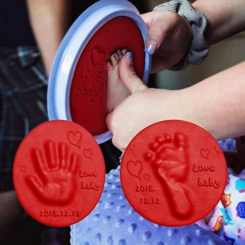 Blue Imprint Casting Fingerprint Vibola Baby Handprint Footprint Shower Gift Ornament Kit Air Drying Soft Clay 30g DIY Baby Desk Creative Keepsake