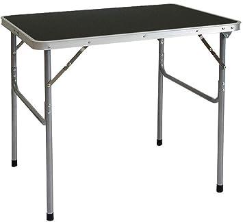 AMANKA Mesa para Acampada de Acero 3Kg 80x60x70cm Plegable ...