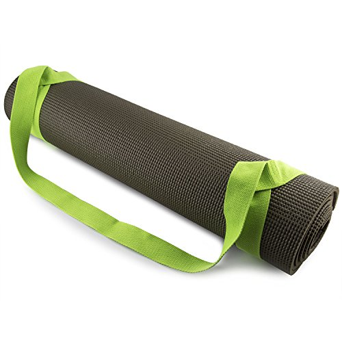 Fit Spirit Adjustable Cotton Yoga Mat Carrying Strap – Green