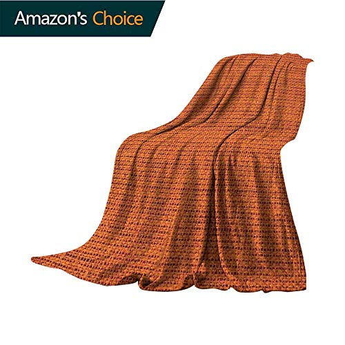 - Orange Fluffy Blanket,Faded Burlap Texture Image Background of Macro Thick Fabric Graphic Design Print Microfiber All Season Blanket for Bed or Couch Multicolor,30