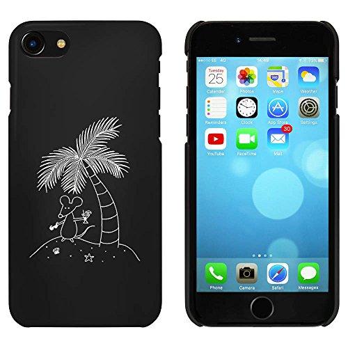 Schwarz 'Maus auf einer Insel' Hülle für iPhone 7 (MC00058255)