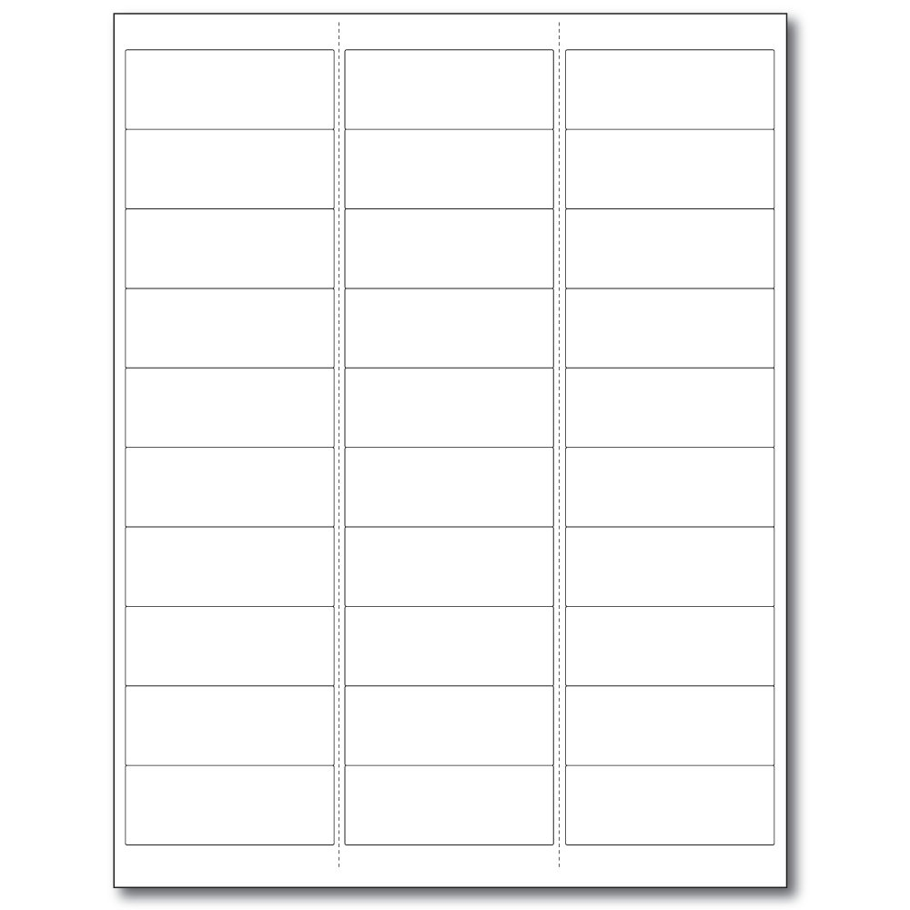 PDC Healthcare WBW73 Laser Portrait Printable Companion Chart Label, Latex and Phthalate Free, 2.5'' Width x 1'' Length, White (Case of 1000)