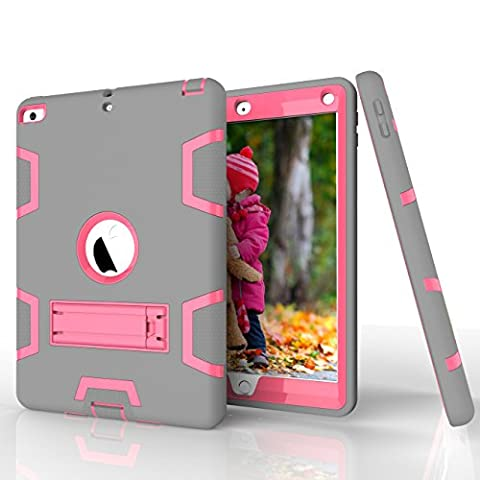 iPad Air Case,Tina Shop Three Layer Kickstand Armor Defender Heavy Duty High Impact Resistant Shock-Absorption Rugged Hybrid Protective Case for Apple iPad Air (5th Generation 2013 (Ipad Fourth Generation Case Speck)