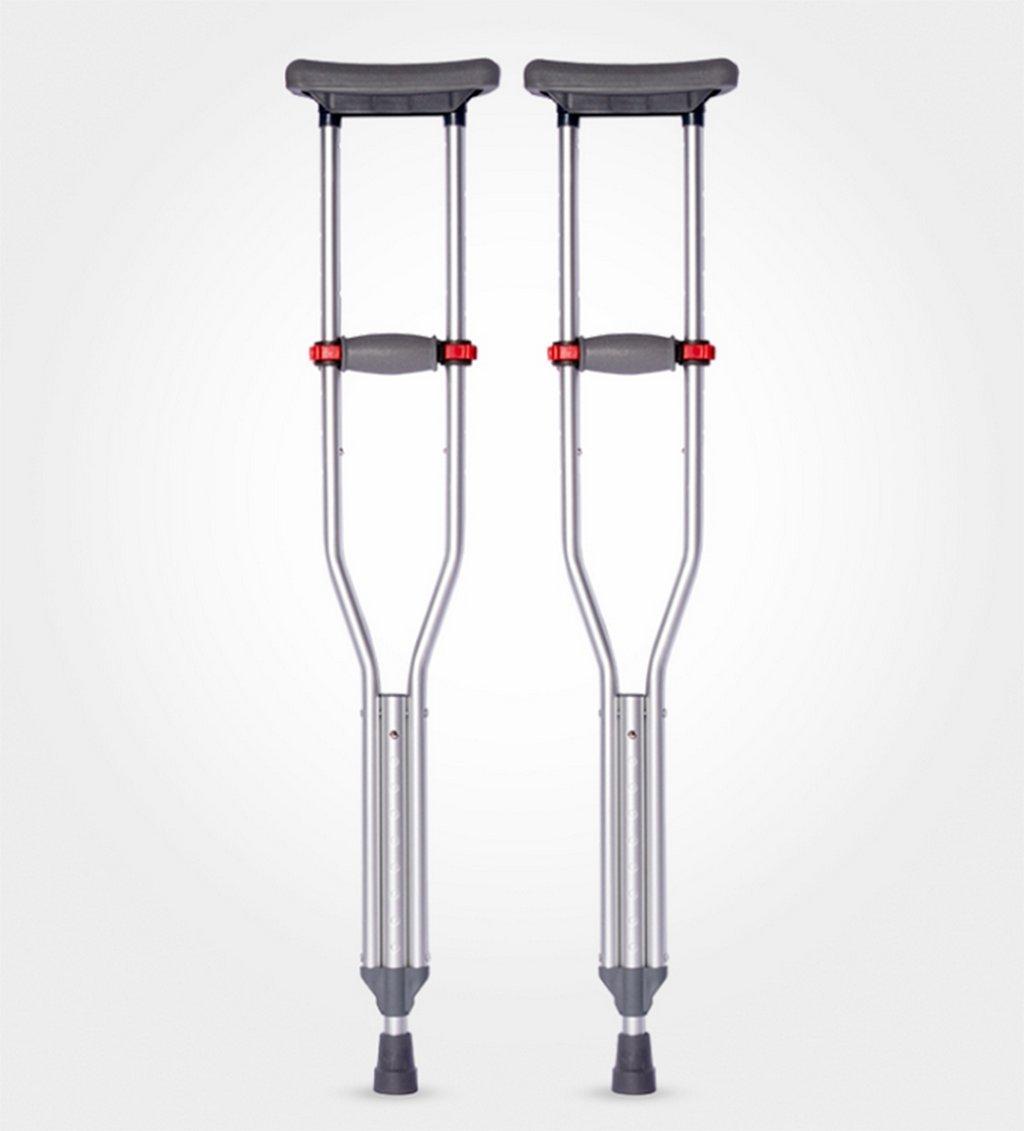 GZD折りたたみ式アクチラ松葉杖スチールアーム松葉杖肥大化障害松葉杖、98~158Cm B07DL17HYK