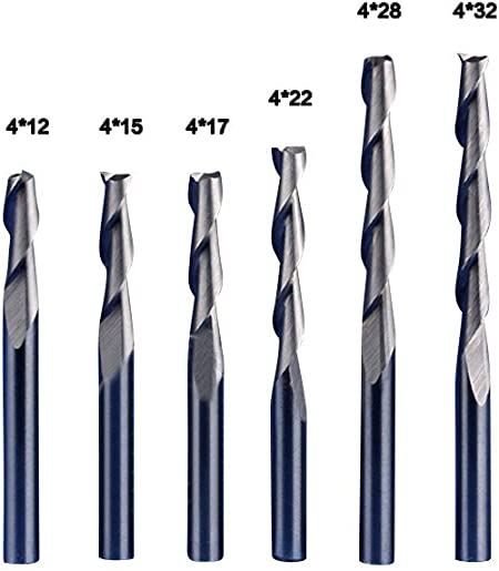 "10pcs 2mm Double Flute Spiral End Mill Cutter CNC 15mm CEL 1//8/"" 3.175mm Shank"